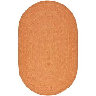 Safavieh Hand-woven Reversible Peach/ Yellow Braided Rug (8' x 10' Oval)