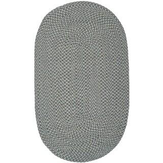 Safavieh Hand-woven Reversible Grey Braided Rug (3' x 5' Oval)