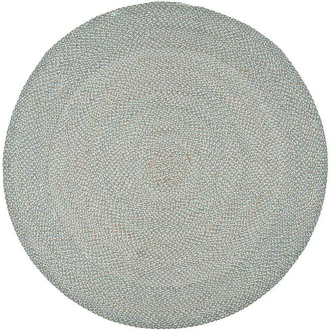 Safavieh Hand Woven Reversible Grey Braided Rug 6 Round