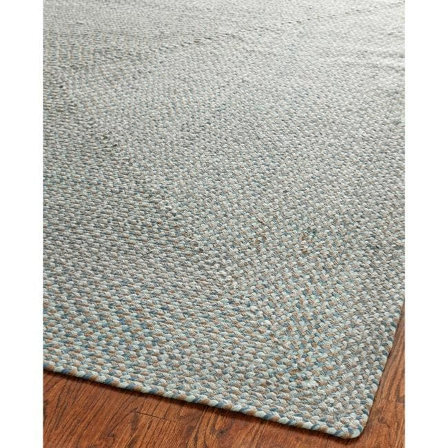 Safavieh hand woven reversible grey braided rug 6 39 square for Dining room rugs 9x12