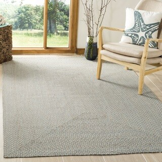 Safavieh Hand-woven Reversible Grey/ Multi Braided Rug (6' x 6')