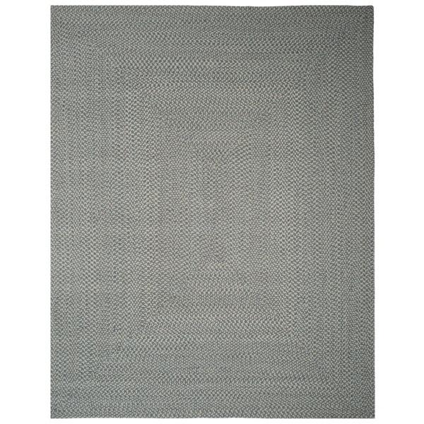 Safavieh Hand-woven Reversible Grey/ Multi Braided Rug (6' x 6')