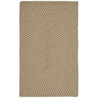 Safavieh Hand-woven Reversible Beige/ Brown Braided Rug (2'6 x 4')