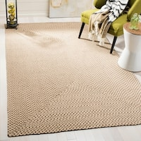 Safavieh Hand-woven Reversible Beige/ Brown Braided Rug - 4' x 6'