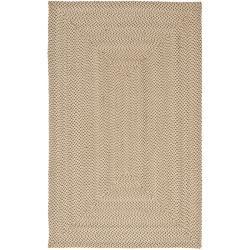 Safavieh Hand-woven Reversible Beige/ Brown Braided Rug (5' x 8')