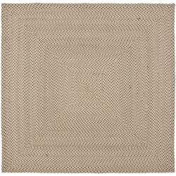Safavieh Hand-woven Reversible Beige/ Brown Braided Rug (6' Square)