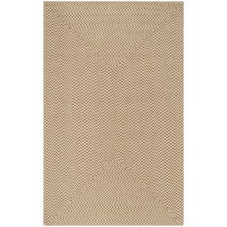 Safavieh Hand-woven Reversible Beige/ Brown Braided Rug (8' x 10')