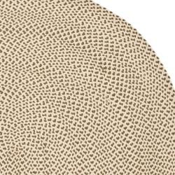 Safavieh Hand-woven Reversible Beige/ Brown Braided Rug (8' x 10' Oval) - Thumbnail 2