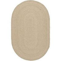 Safavieh Hand-woven Reversible Beige/ Brown Braided Rug (8' x 10' Oval) - 8' x 10' Oval