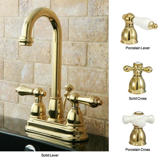 Polished Brass High Arc Bathroom Faucet