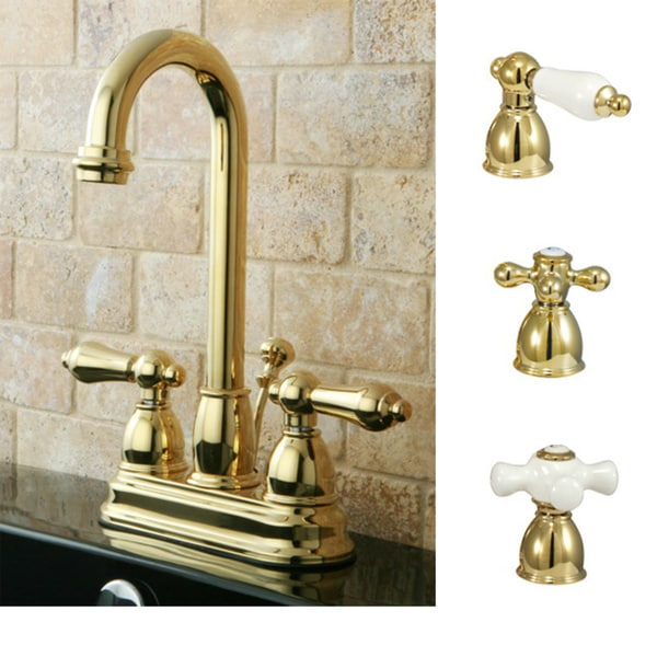 Polished Brass High Arc Bathroom Faucet - Free Shipping Today ...