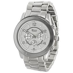Geneva Platinum Men's Stainless-Steel Chronograph-Style Link Watch