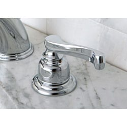 French Handles Chrome Widespread Bathroom Faucet - Thumbnail 1