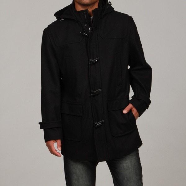 Calvin Klein Men's Wool Blend Toggle-front Hooded Coat FINAL SALE ...