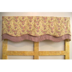 Lavender Days Scallop Valance