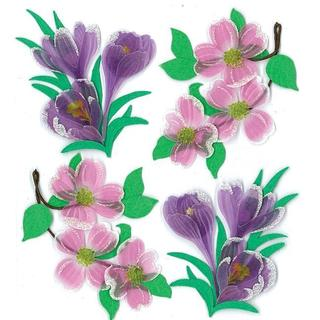 Jolee's Boutique Dogwood and Crocus Flowers Stickers