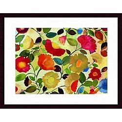 Kim Parker 'Tuscan Garden' Wood-framed Art Print