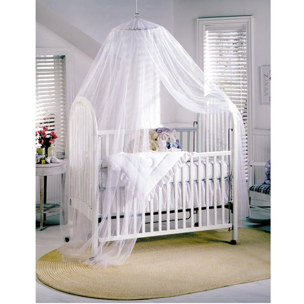 Siam White Sheer Baby Canopy  sc 1 st  Overstock.com & Siam White Sheer Baby Canopy - Free Shipping On Orders Over $45 ...
