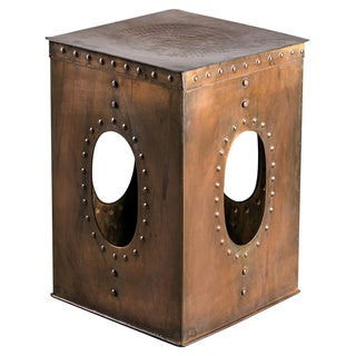 Square Rivet Copper Stool