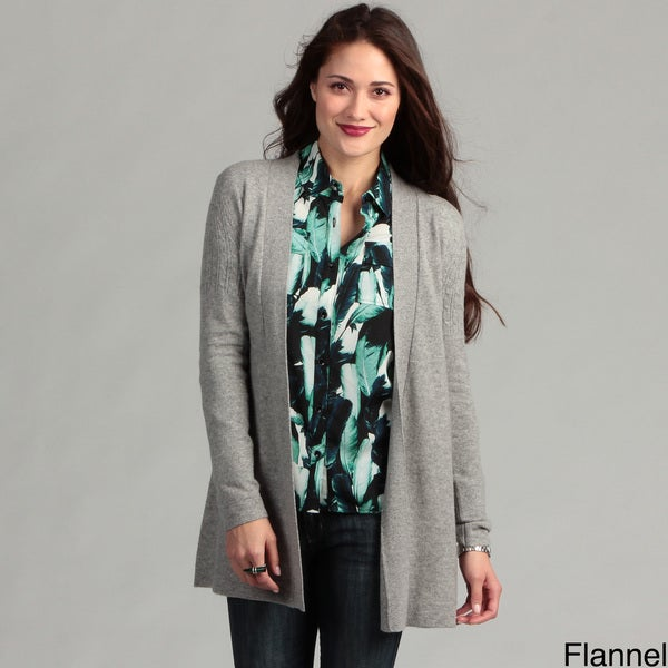 Oliver & James Women's Cashmere Open Front Cardigan