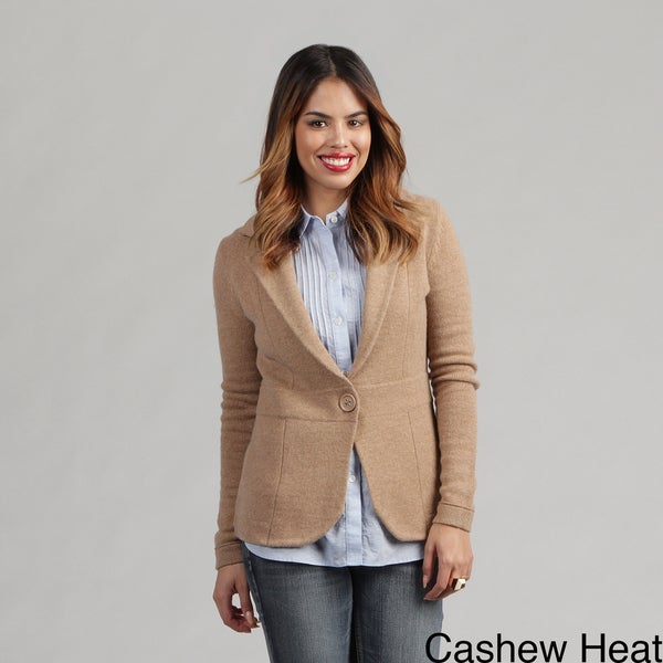 Oliver & James Women's Cashmere One-button Blazer