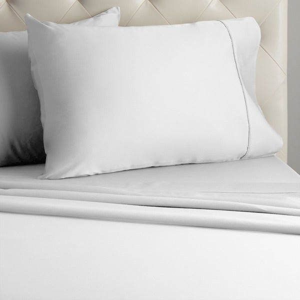 Grand Luxe Egyptian Cotton Sateen 300 Thread Count Solid Deep Pocket Sheet Set