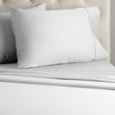 Veratex 800 Thread Sateen Solid Pillowcases (Set of 2)