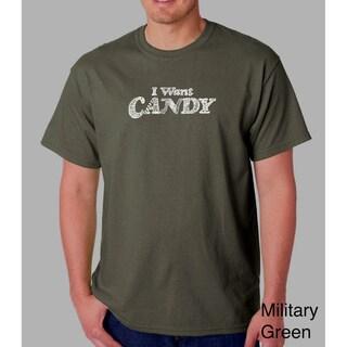 Los Angeles Pop Art Men's 'I Want Candy' T-shirt