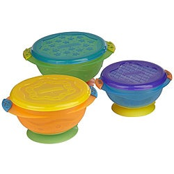 Munchkin Stay-Put Suction Bowls (Pack of 3)
