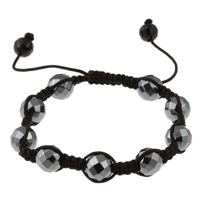 La Preciosa Black Hematite Macrame Bracelet, Women's, Siz...
