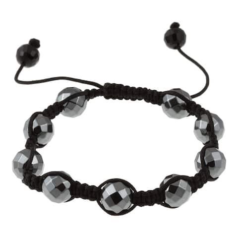 La Preciosa Black Hematite Macrame Bracelet