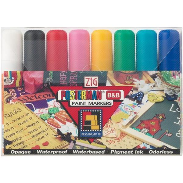 Zig Posterman 15 mm Tip Markers (Pack of 8)