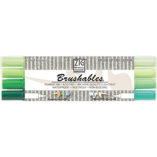 Zig Memory System Brushables Dual-Tip Green Marker