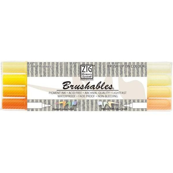 Zig Memory System Brushables Dual-Tip Yellow Markers