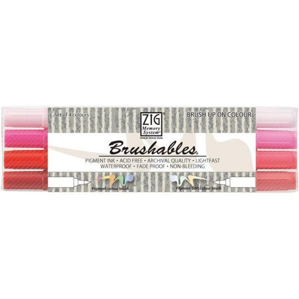 Zig Memory System Brushables Dual-tip Red Marker