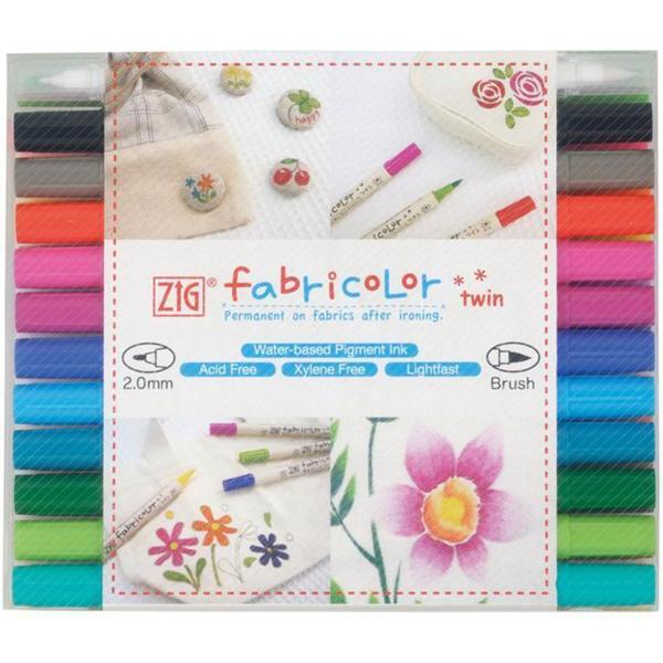 Zig Fabricolor Twin-tip Markers (Case of 24)