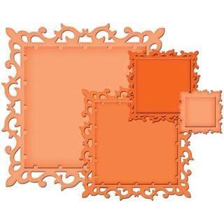 Spellbinders Nestabilities 'Fleur De Lis Squares' Decorative Elements Dies