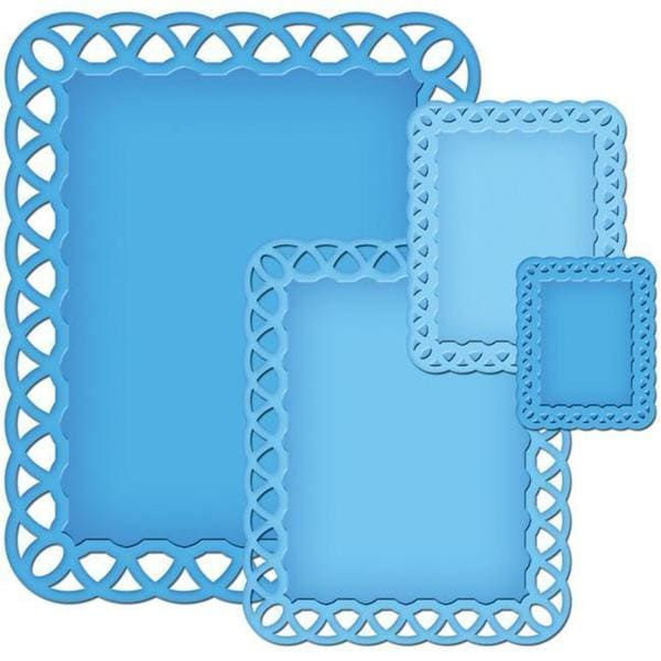 Spellbinders Nestabilities 'Lattice Rectangles' Decorative Elements Dies