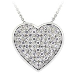 Icz Stonez Sterling Silver Cubic Zirconia Heart Necklace - Thumbnail 0