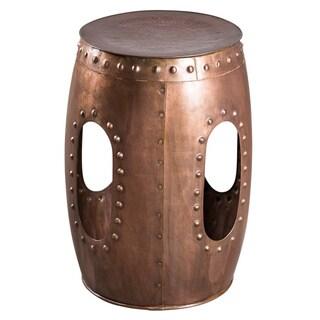 Industrial Barrel Copper Stool