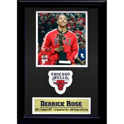 Chicago Bulls Derrick Rose Commemorative Patch Frame