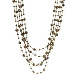 Pearls for You Pearls For You 14k Gold Five-strand FW Pearl Necklace (4-9 mm)