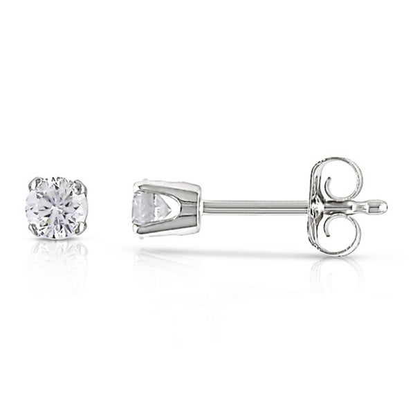 Miadora Certified 14k White Gold Diamond 1/4ct Stud Earrings (G-H, I1-I2)