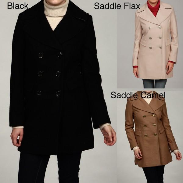 Kenneth Cole Reaction Women's Wool-Blend Pea Coat FINAL SALE ...