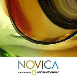 Murano Handmade Glass 'New Life' Medium Vase (Brazil)