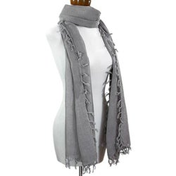 Handmade Cotton 'Jacobine Gray' Scarf (Guatemala)
