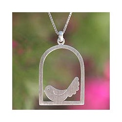 Sterling Silver 'Happy Bird' Necklace (Thailand)