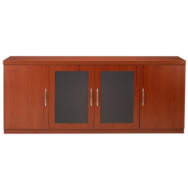 Genial Mayline Aberdeen Low Wall Cabinet With 2 Glass And 2 Wood Doors