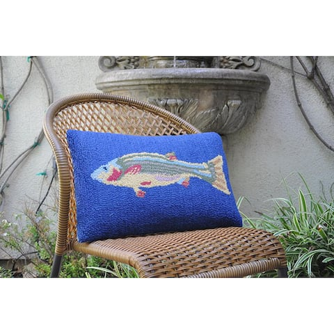 Cottage Home Fish Wool Hook Pillow