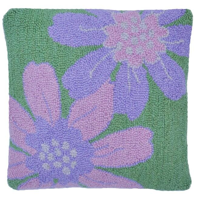 Flower Wool Decorative Pillow